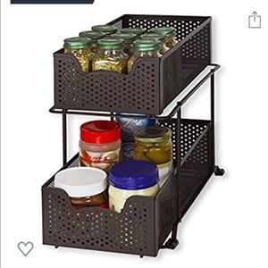 2 tier basket drawers NWT